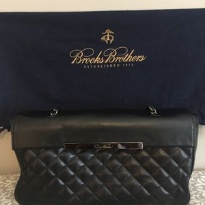 Brooks Brothers Quilted Leather Chain Shoulder Bag
